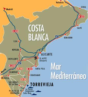 De Spaanse Costa S Van Noord Naar Zuid Op Een Rijtje Onderweg