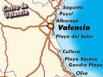 Valencia 1 Kaart