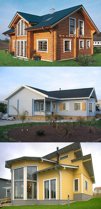 Voorbeelden houten woningen